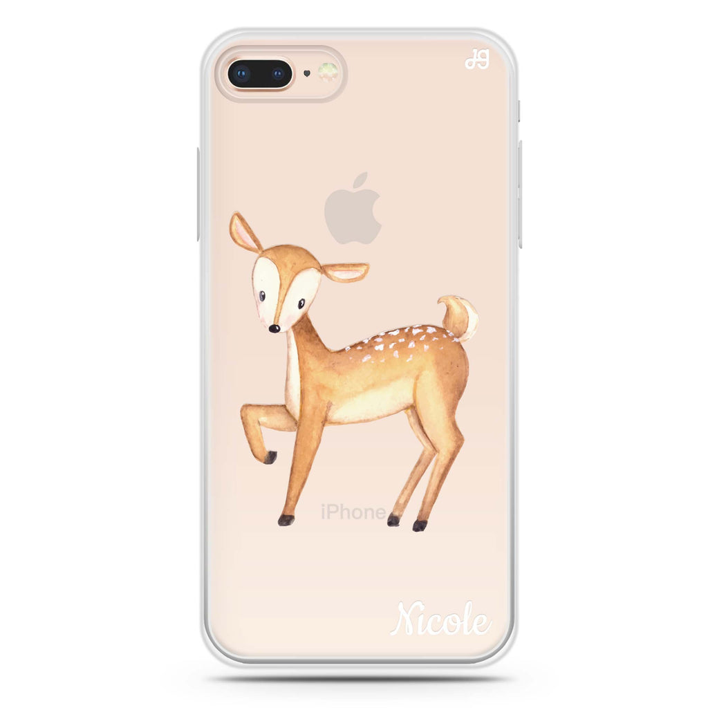 Funny Deer iPhone 8 Plus 透明軟保護殻
