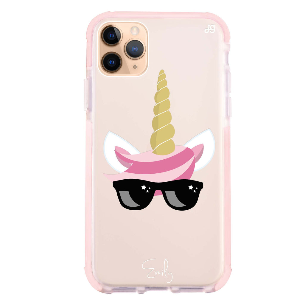 Cute Sunglasses unicorn iPhone 11 Pro Max 吸震防摔保護殼