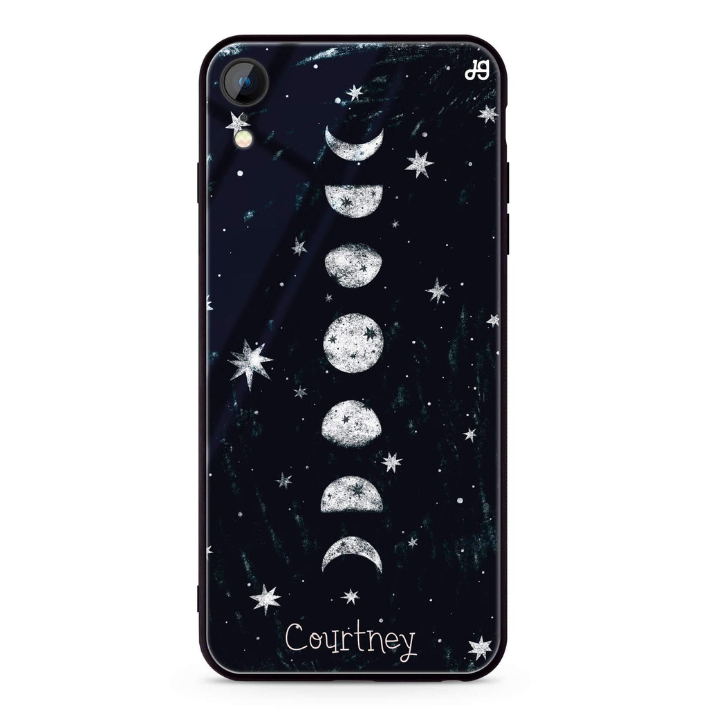Phases of the moon iPhone XR 超薄強化玻璃殻