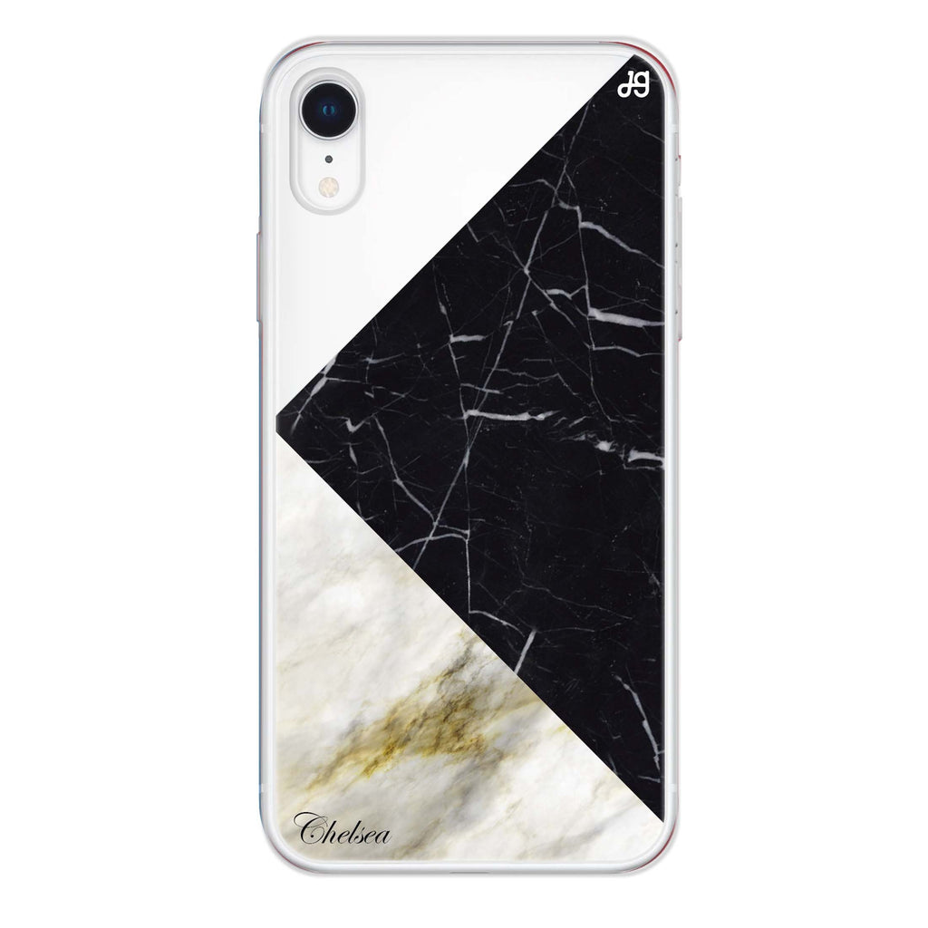 Marble Mix iPhone XR 透明軟保護殻