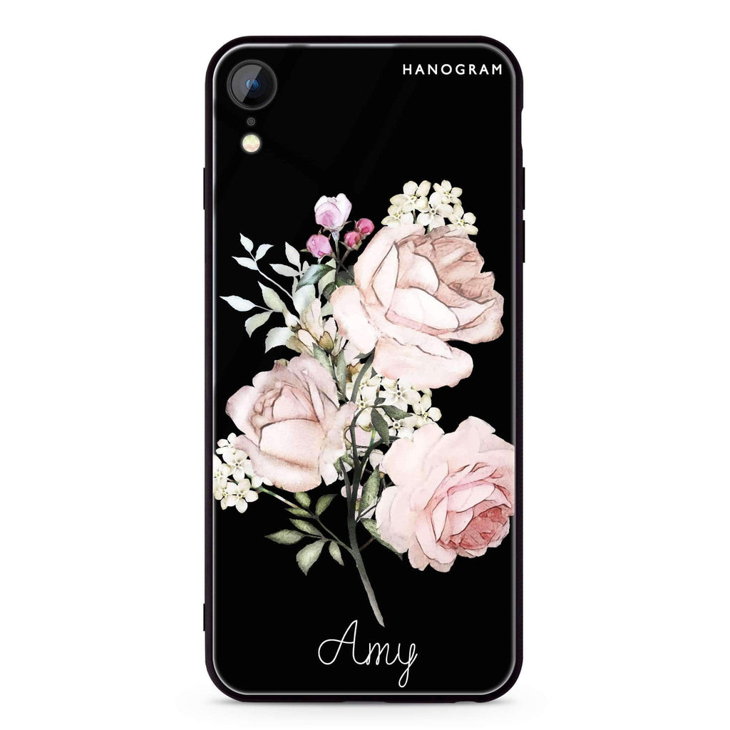 Elegant Rose II iPhone XR 超薄強化玻璃殻