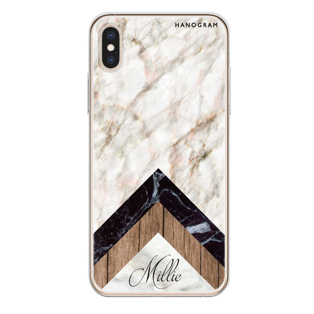 Marble & Wood iPhone X 透明軟保護殻