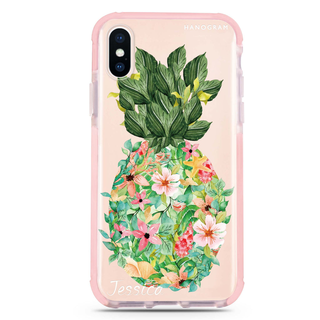 Floral Pineapple iPhone XS Max 吸震防摔保護殼