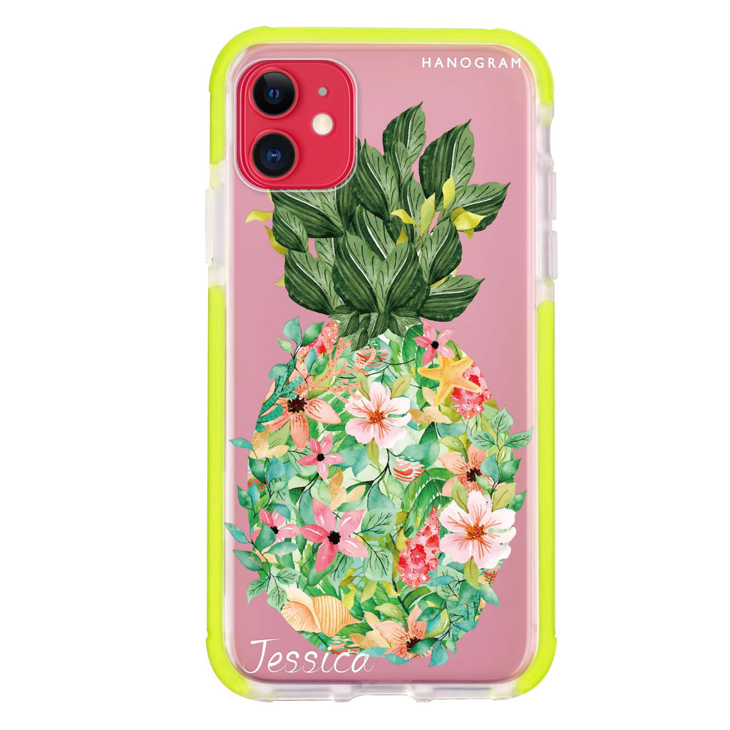 Floral Pineapple iPhone 11 吸震防摔保護殼