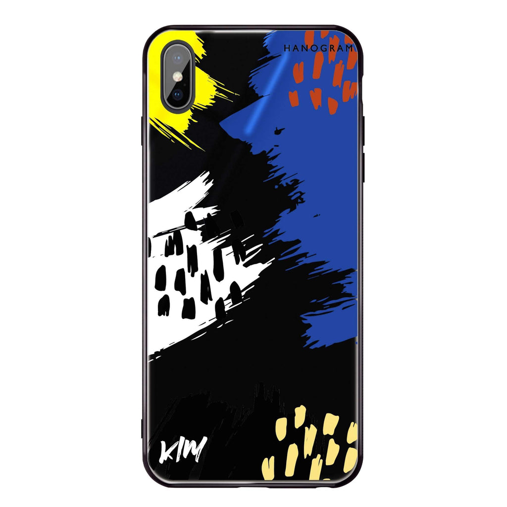 Trendy Abstract I iPhone XS 超薄強化玻璃殻