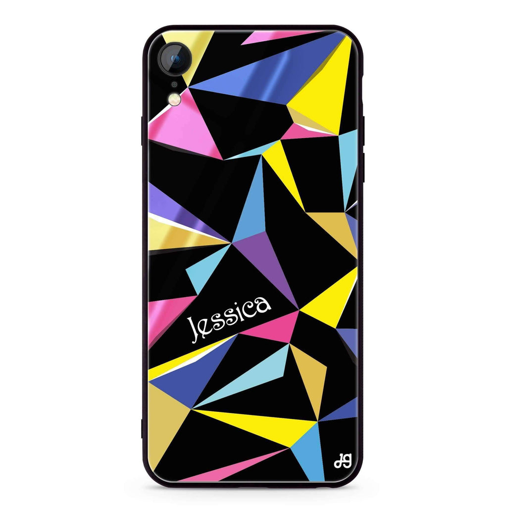 Geometric iPhone XR 超薄強化玻璃殻