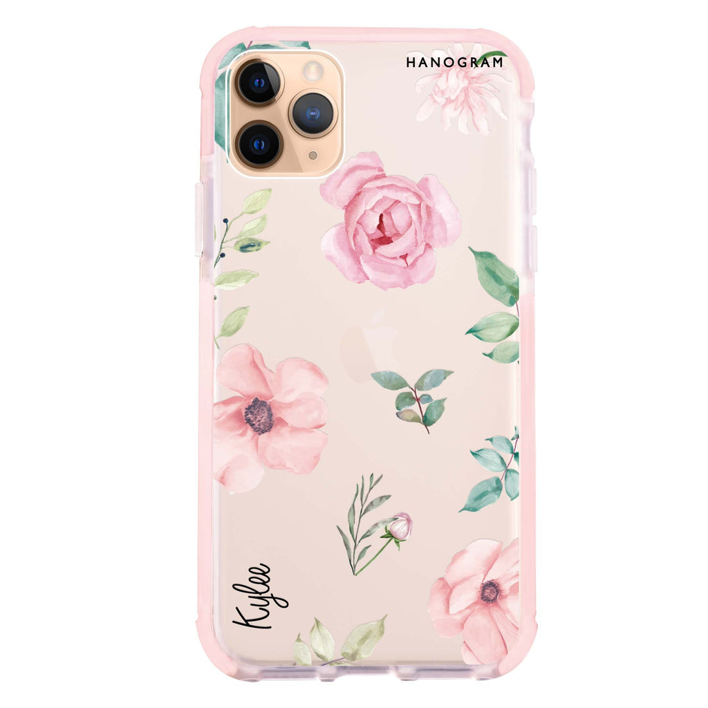 Rose Flower iPhone 11 Pro Max 吸震防摔保護殼