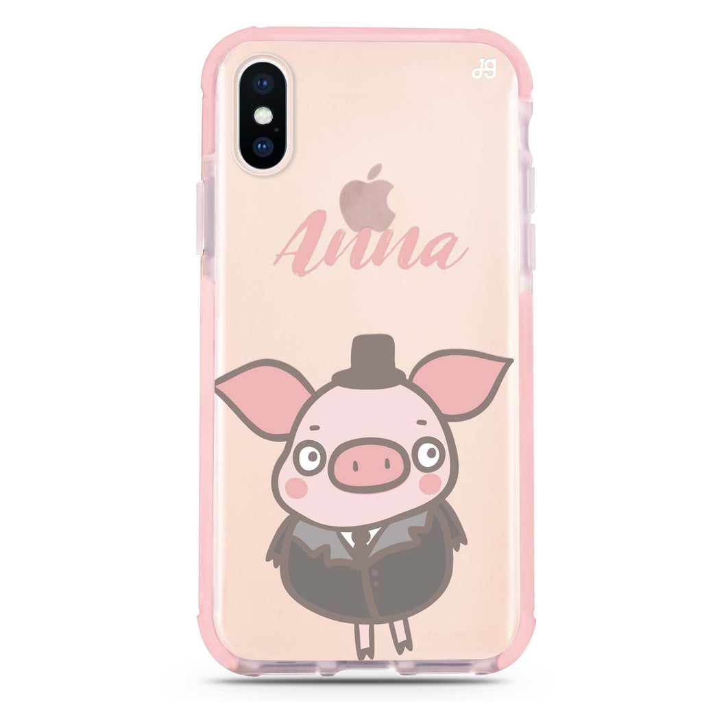 Funny Piggy iPhone XS Max 吸震防摔保護殼