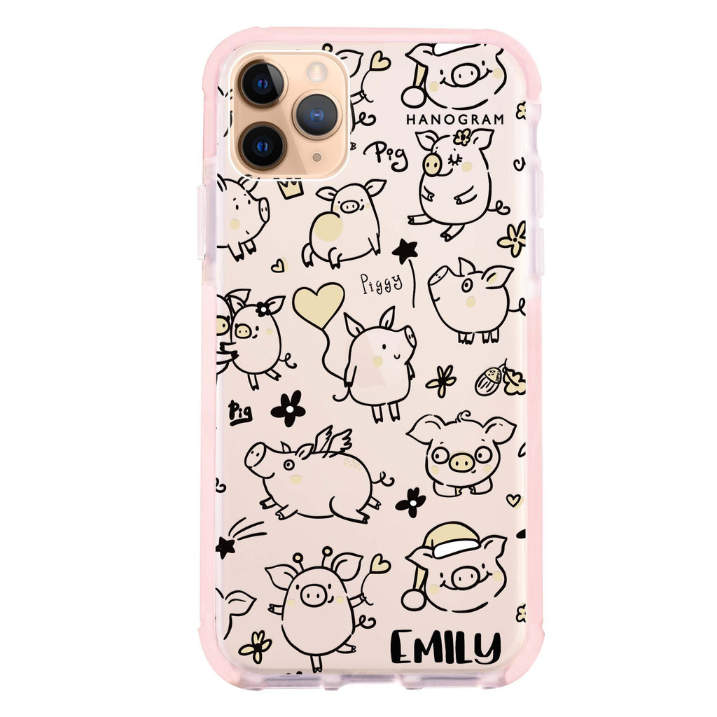 Lovely Piggy iPhone 11 Pro 吸震防摔保護殼