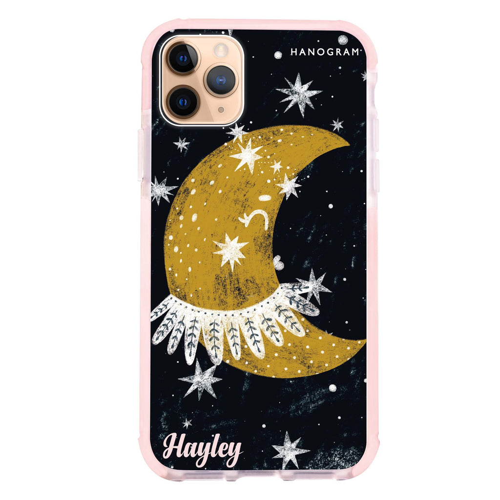 Cute Half Moon iPhone 11 Pro Max 吸震防摔保護殼