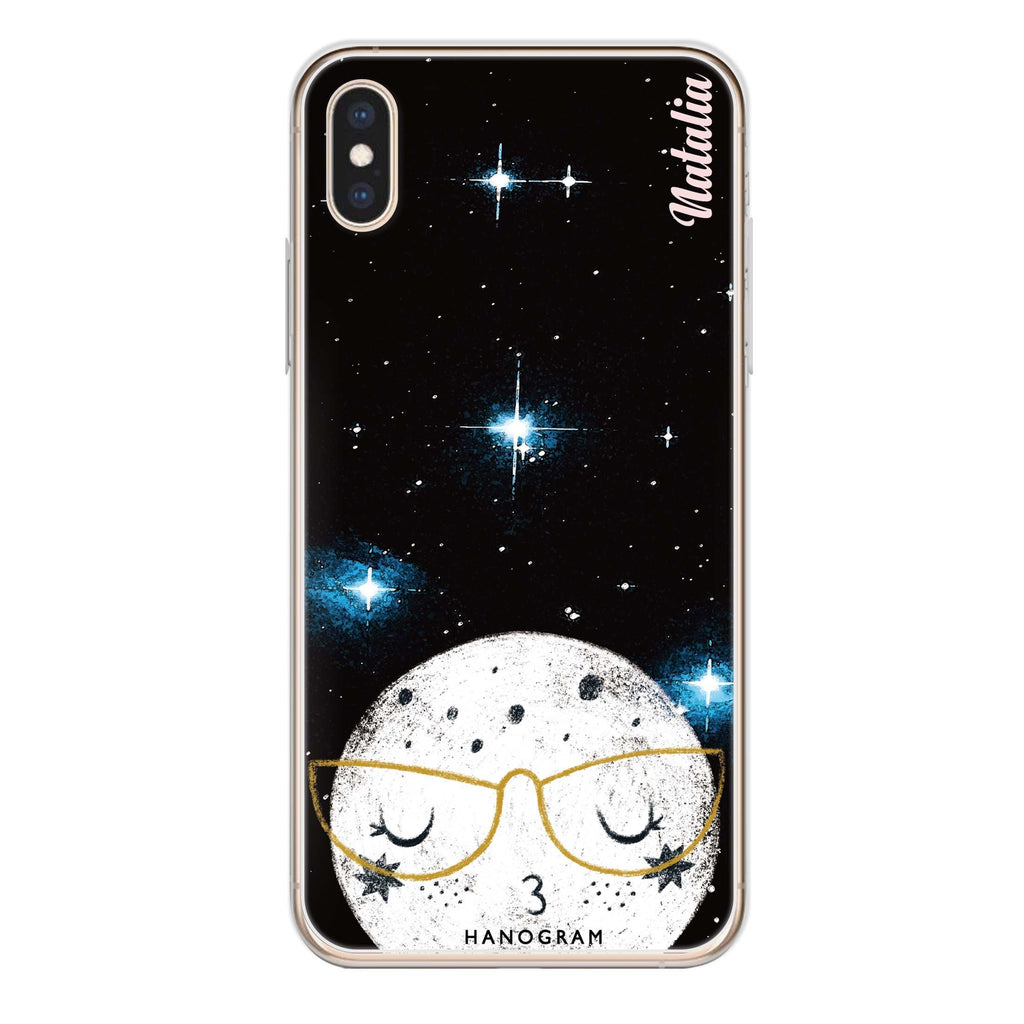 Glasses Moon iPhone X 透明軟保護殻