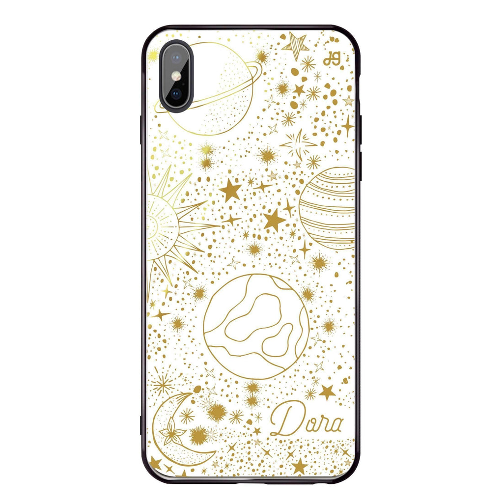 Golden Galaxy I iPhone X 超薄強化玻璃殻