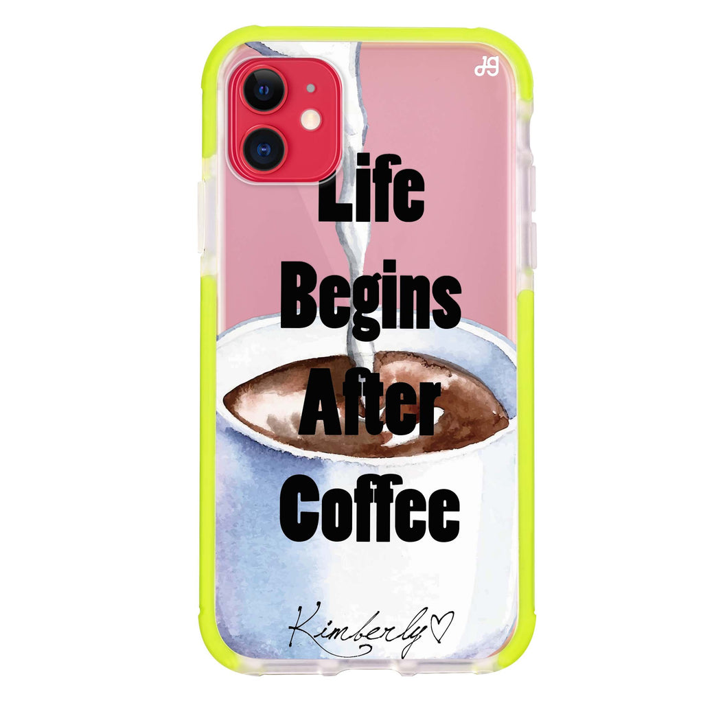 Life begins after coffee iPhone 11 吸震防摔保護殼