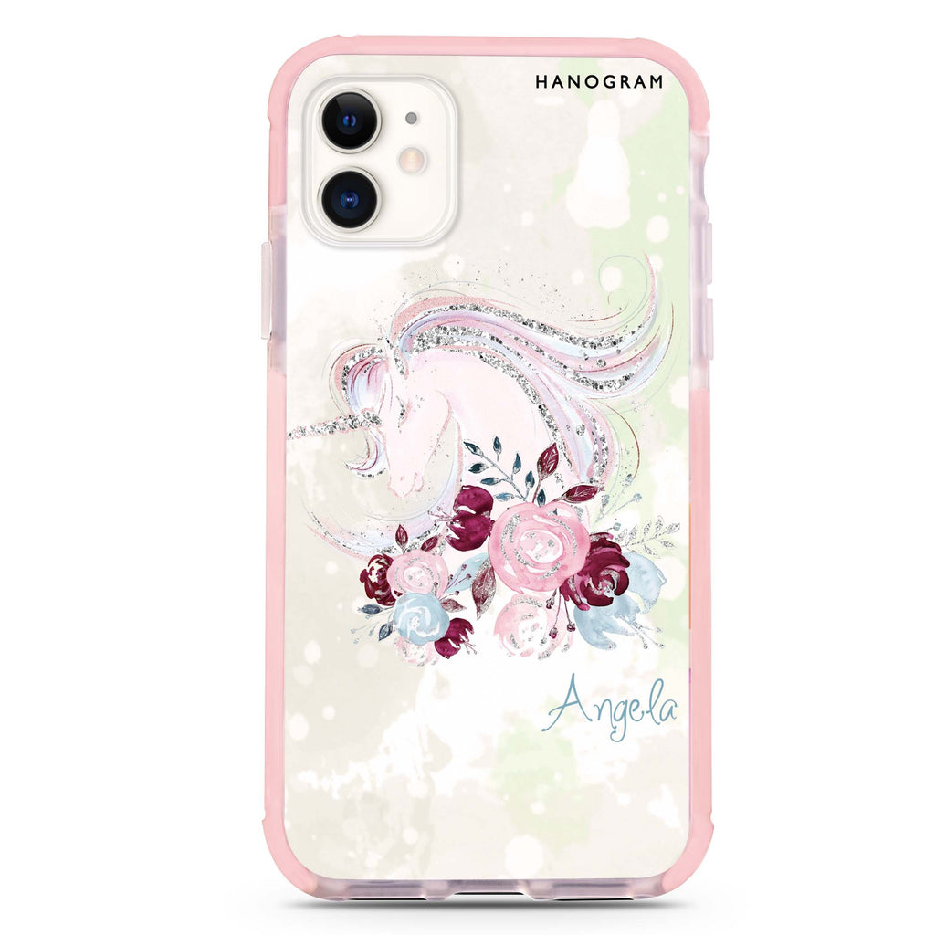 Unicorn & Floral iPhone 11 吸震防摔保護殼