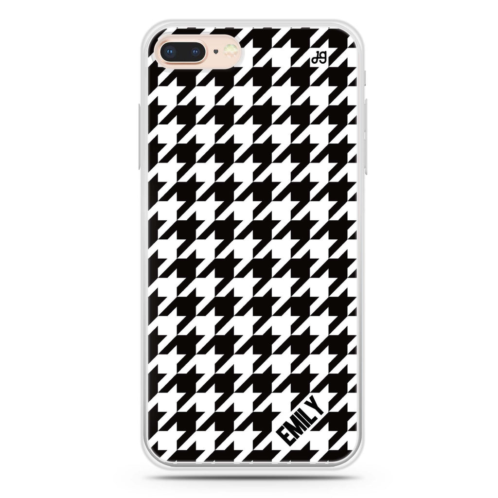 Houndstooth iPhone 8 Plus 透明軟保護殻