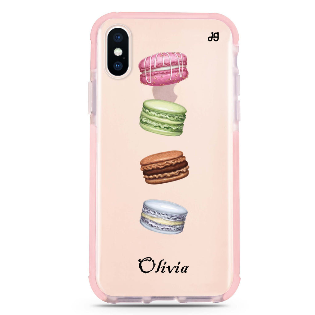 Delicious Macarons iPhone XS Max 吸震防摔保護殼