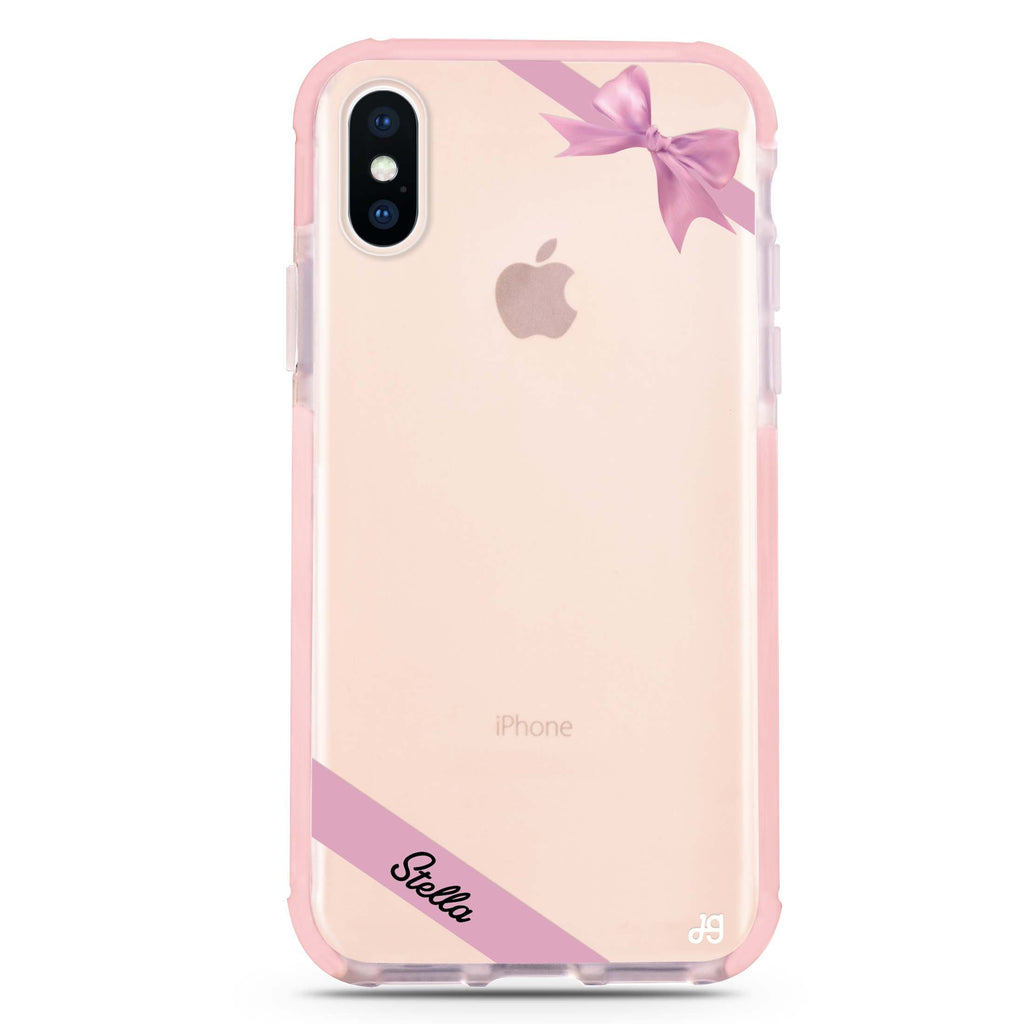 Pink Bow iPhone XS Max 吸震防摔保護殼