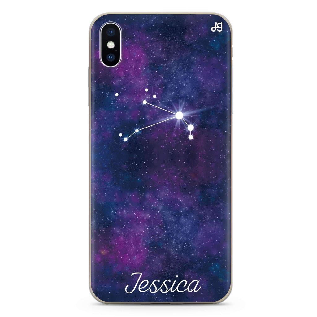 Galaxy Constellation iPhone XS 透明軟保護殻
