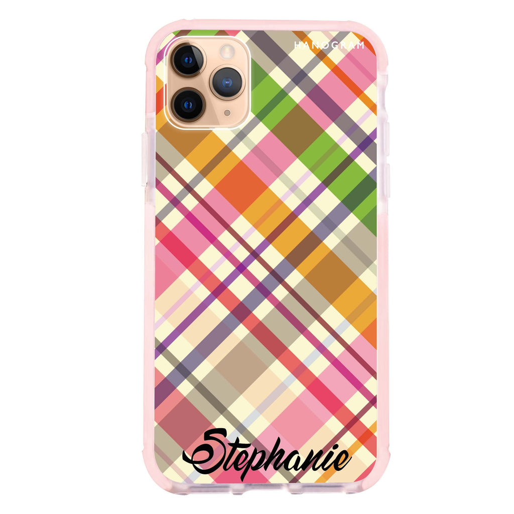 Colourful Checker Custom Name iPhone 11 Pro Max 吸震防摔保護殼