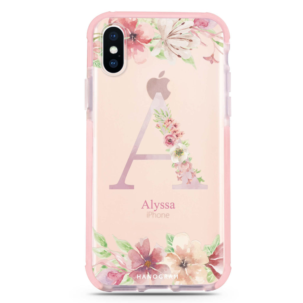 Monogram & Floral iPhone XS Max 吸震防摔保護殼