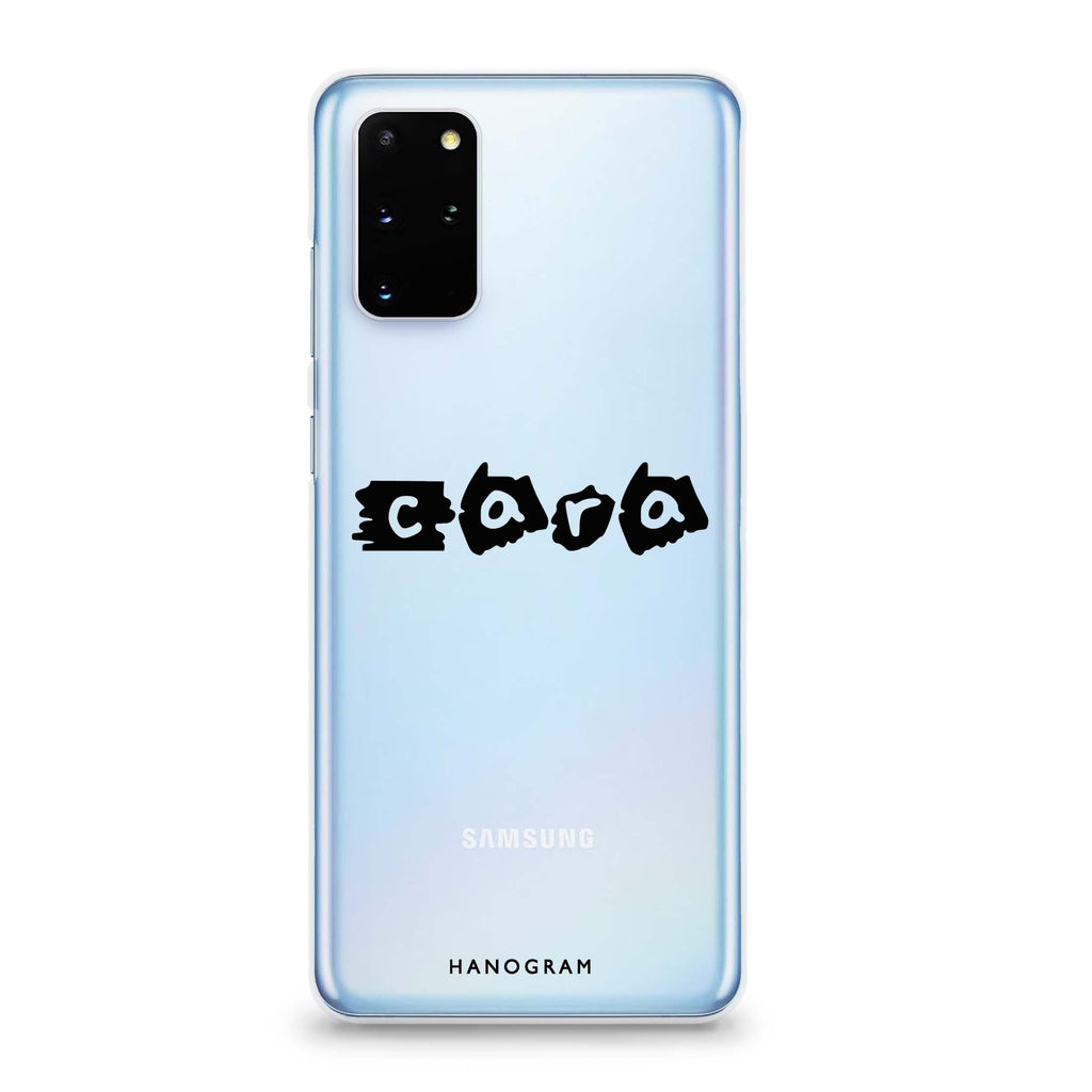 Sticker Custom Name Samsung S20 透明軟保護殻