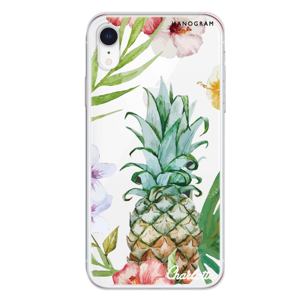 Pineapple & Floral iPhone XR 透明軟保護殻