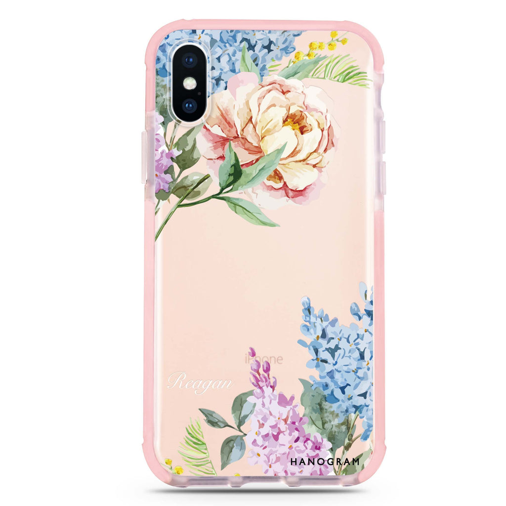 Tropical Floral iPhone XS Max 吸震防摔保護殼