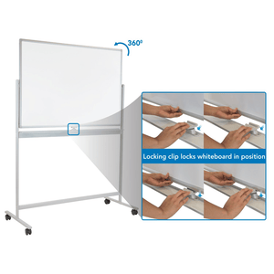 Mount-It! Double-Sided Mobile Dry Erase Board - Endless Desks