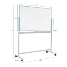 Load image into Gallery viewer, Mount-It! Double-Sided Mobile Dry Erase Board - Endless Desks