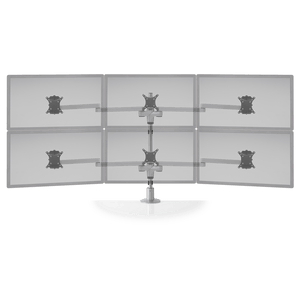 Innovative Staxx 3 over 3 Adjustable Monitor Mount - Wide - Innovative - Monitor Mount - Endless Desks