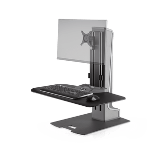 Innovative Winston-E Sit-Stand Workstation Single Monitor Mount with Compact Work Surface - Innovative - Workstation - Endless Desks