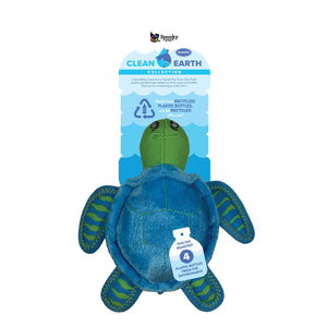 Spunky Pup Clean Earth Plush Turtle