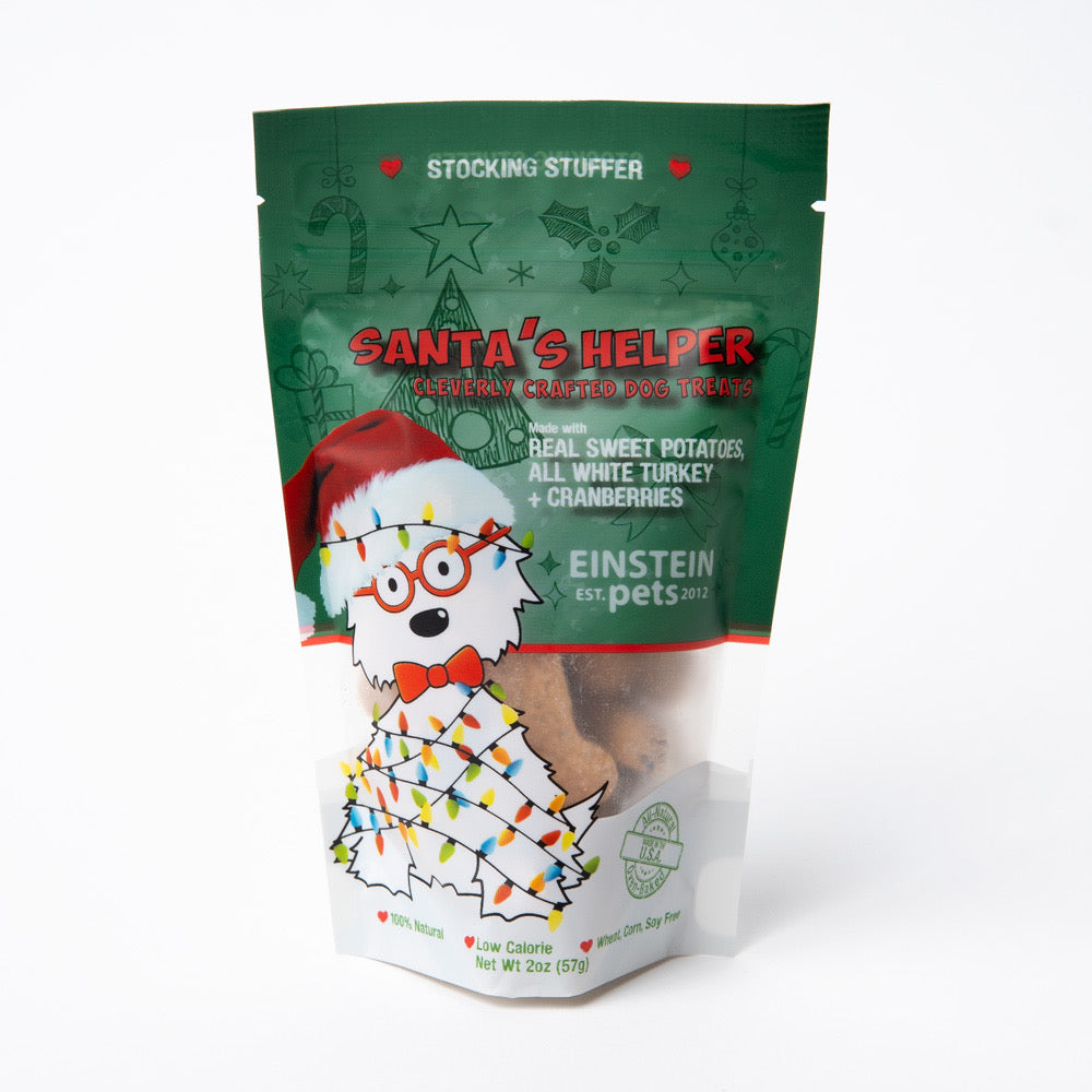Einstein Pets Santa Helper Sweet Potato and Turkey Biscuits For Dogs
