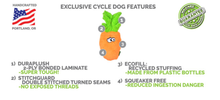 Load image into Gallery viewer, Cycle Dog Pineapple Plush Toy