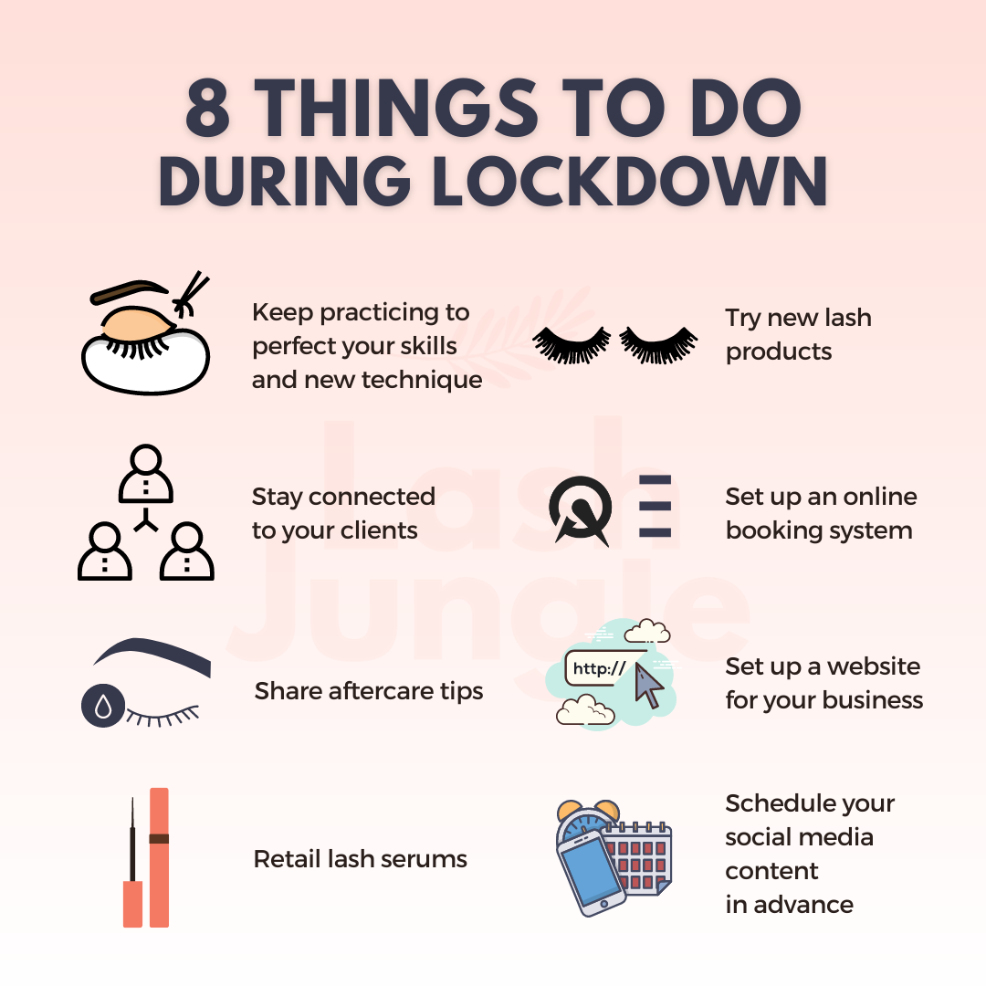 Things to do during lockdown for lash artists