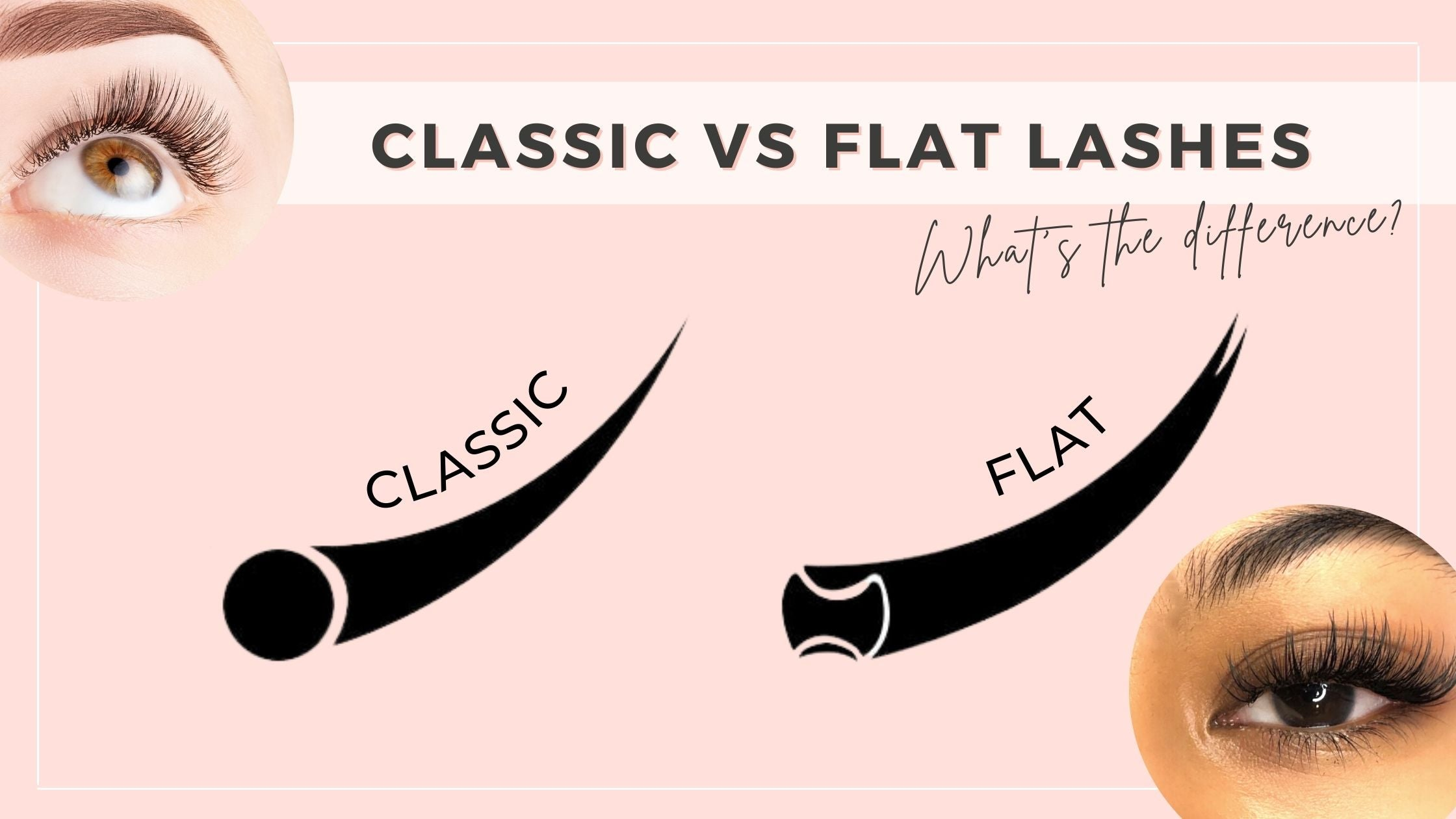 Classic vs flat lashes what's the difference