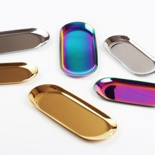 Load image into Gallery viewer, Luxe Tweezer Tray Gold Rainbow