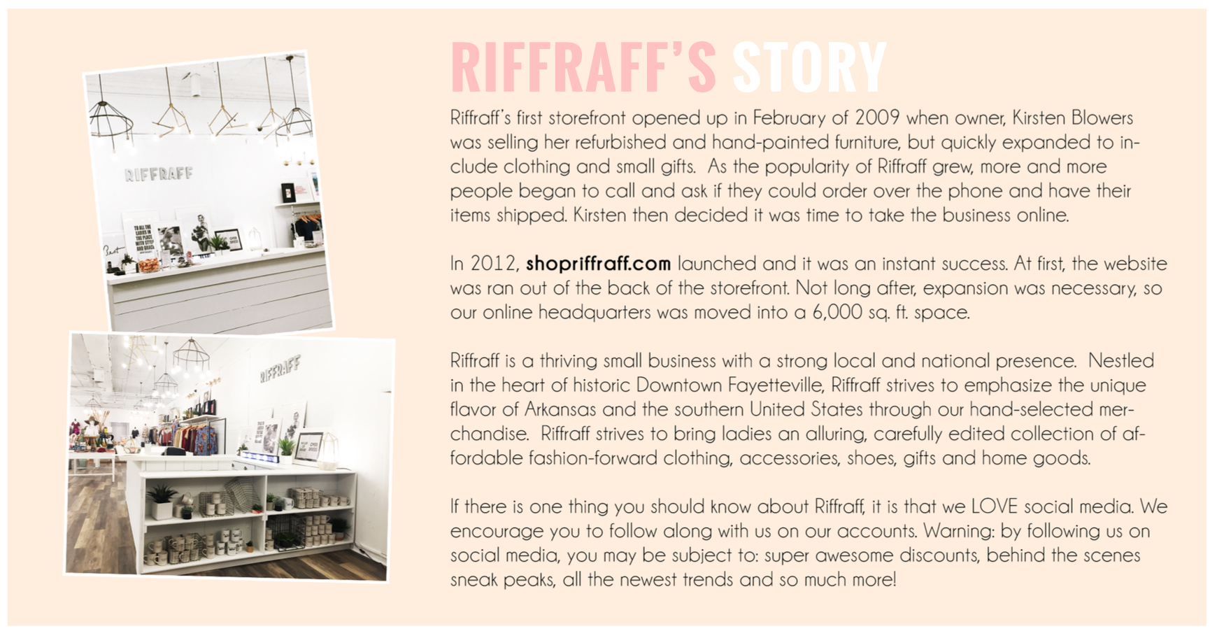 Riffraff's Story - About Us