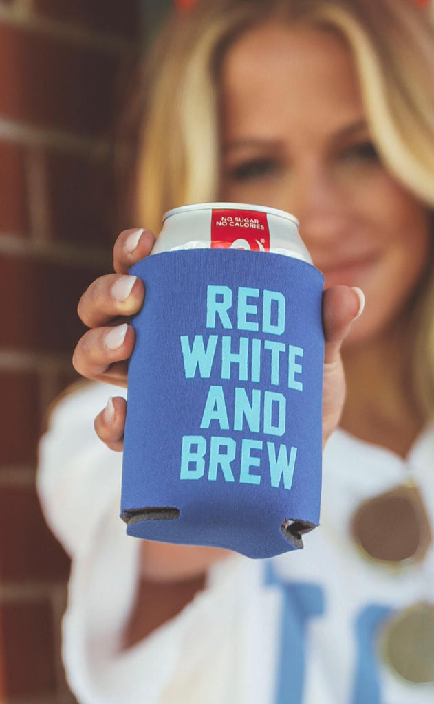 charlie southern: red white and brew drink sleeve [set of 4]