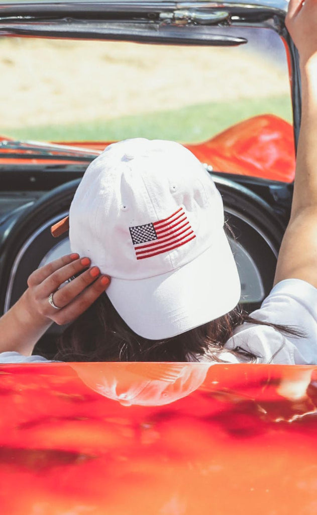 friday + saturday: flag hat