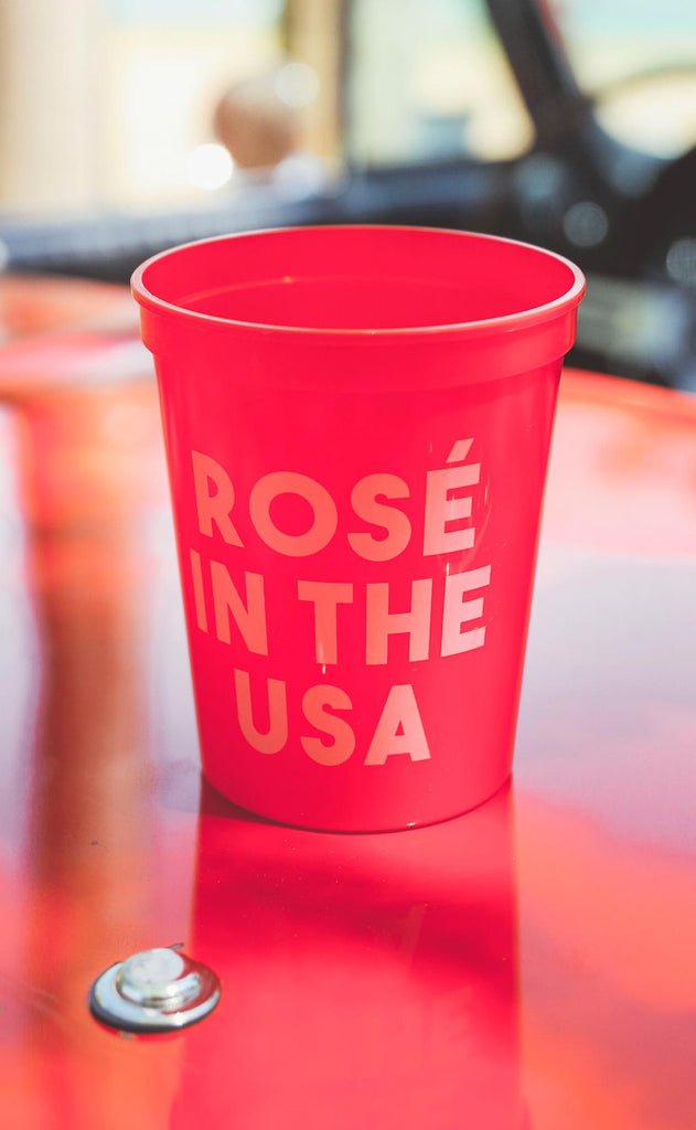 friday + saturday: rose in the usa cup - 16 oz [pack of 12]