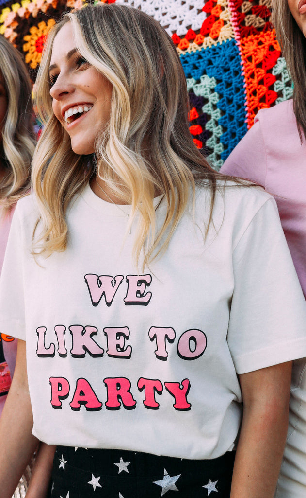 friday + saturday: we like to party t shirt