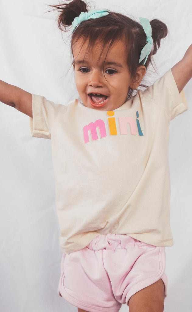 friday + saturday: mini color block toddler tee