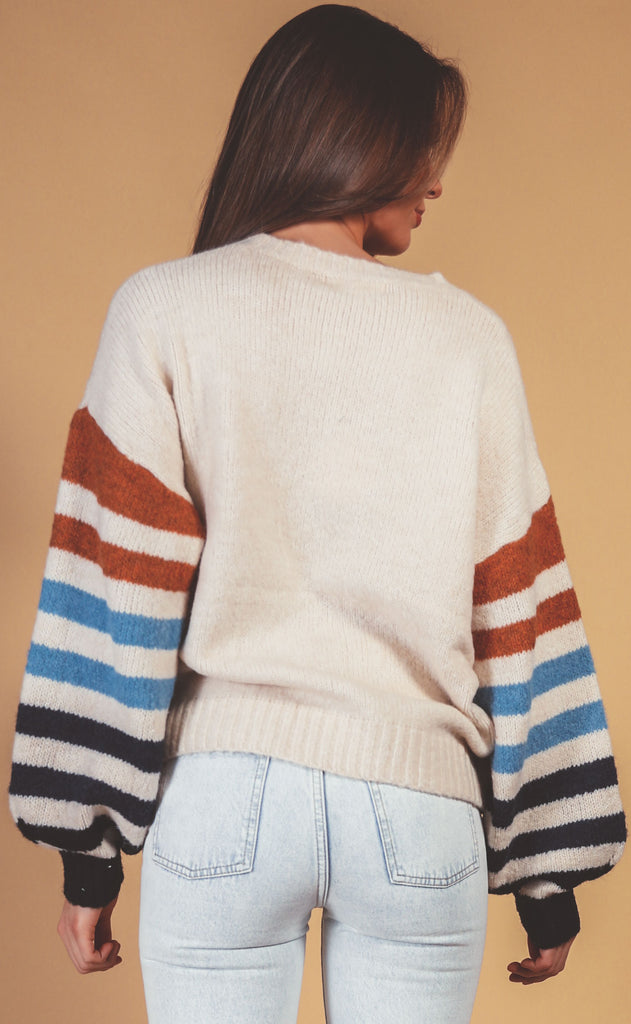 playing games knit sweater