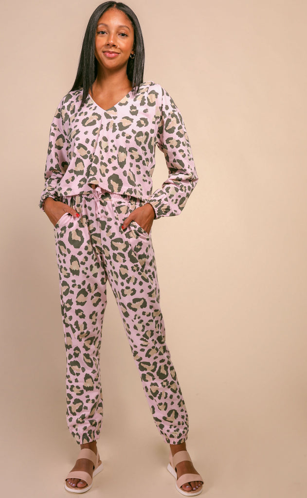 show me your mumu: huxley pants - cheetah sister terry