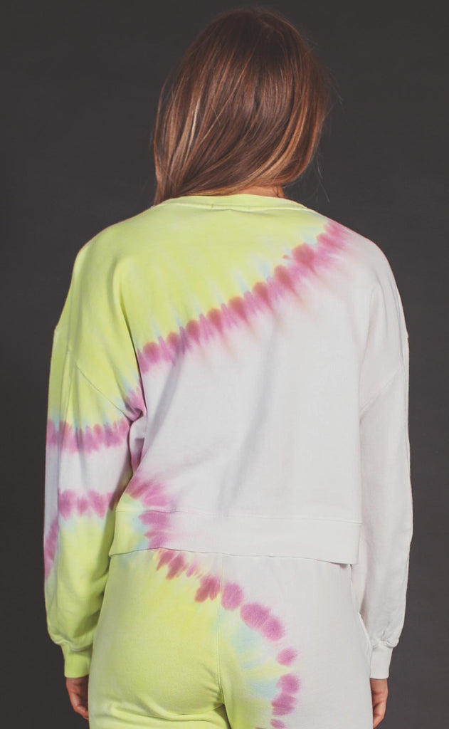 z supply: sunburst tie dye sweatshirt - white