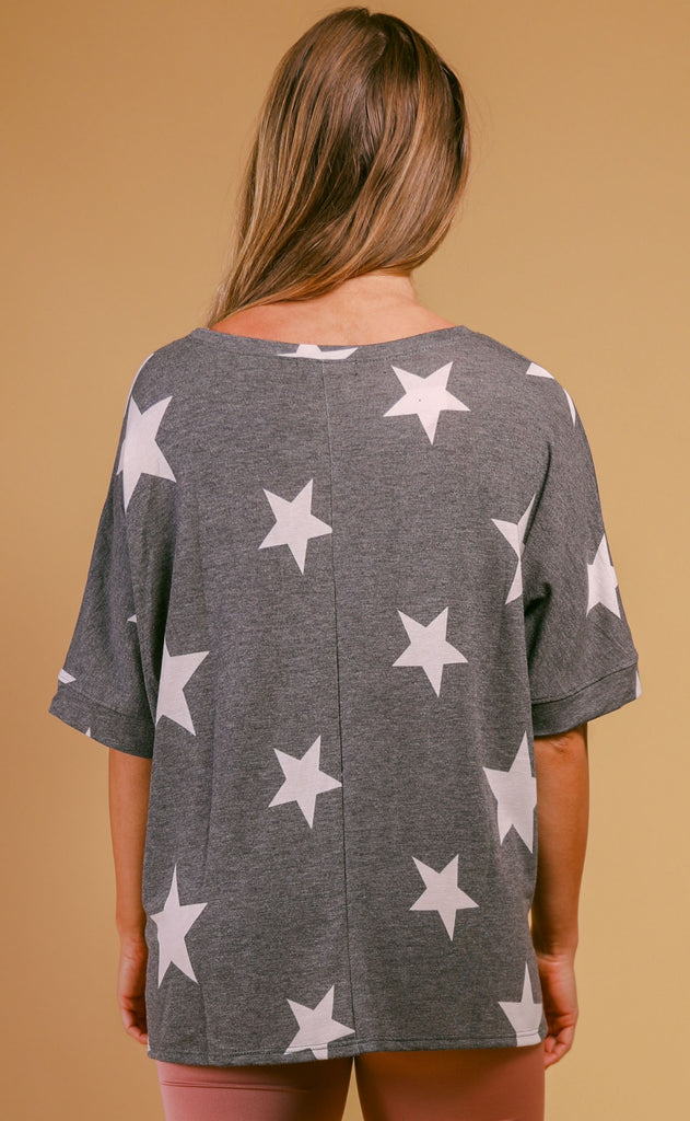 late night oversized star tee
