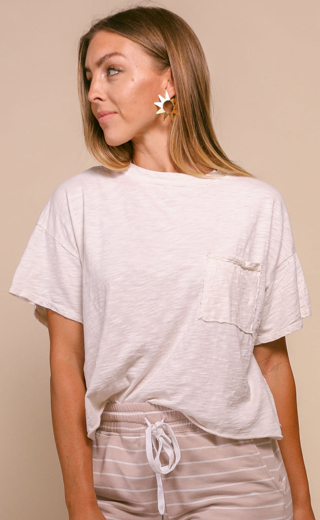 perfectly vintage oversized tee - cream