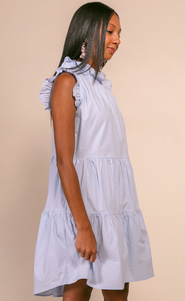 cape cod ruffle dress