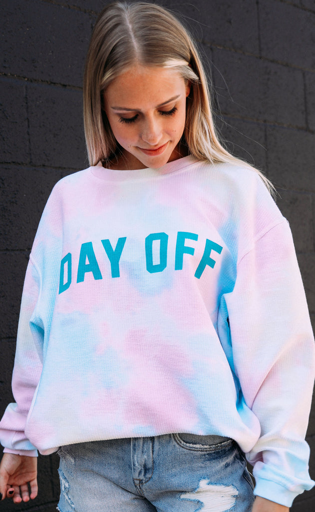 friday + saturday: day off corded sweatshirt - tie dye